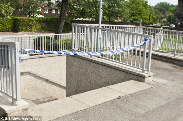 scene of crime The Thai woman's body was found dumped in the underpass pictured. A passerby earlier heard screams coming from the victim