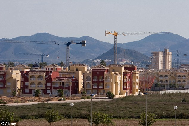 Badly hit: Spain has more than 700,000 unsold homes sitting vacant after its property boom collapsed in 2008