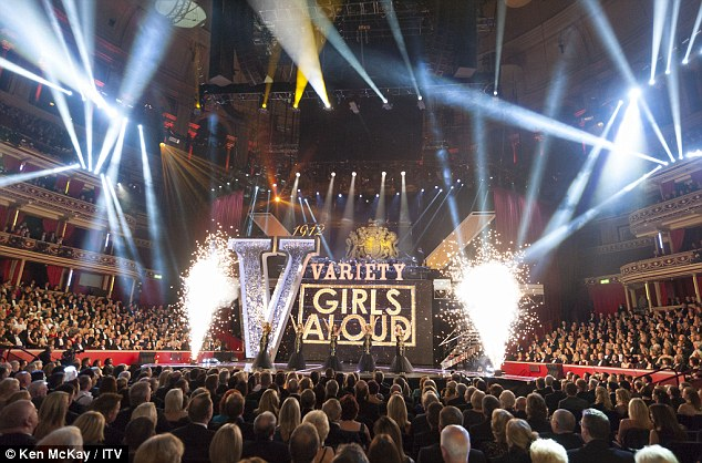Lavish set: The girls performed an impressive set in the spectacular venue