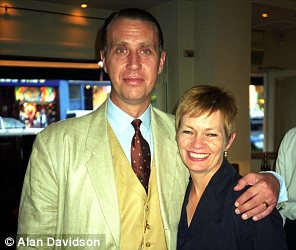 Clive Goodman with his wife at a party in the 90s