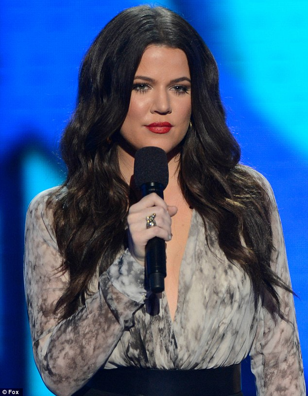 Owning it: Khloe is more careful with her choice of blouse now