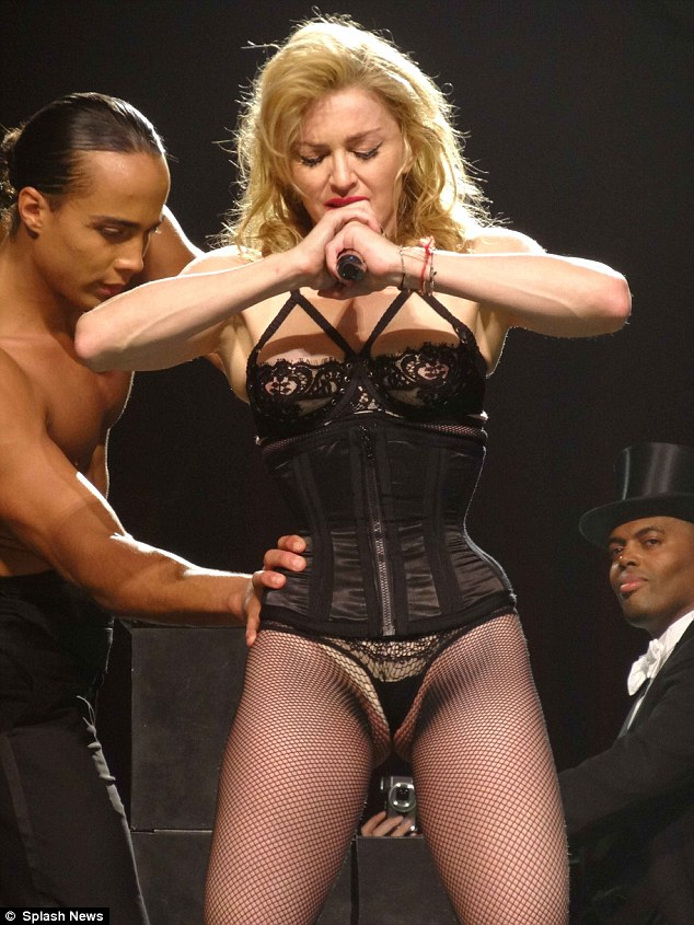 Too much: Madonna's revealing costume in Miami was perhaps a step too far...