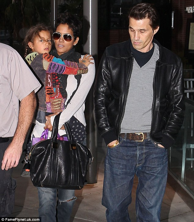 Family: Halle with Nahla and Olivier Martinez leaving the Westfield Mall in Century City last week