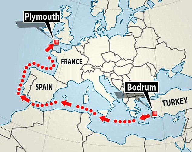 Quest for love: Culum travelled from Bodrum in Turkey to Plymouth