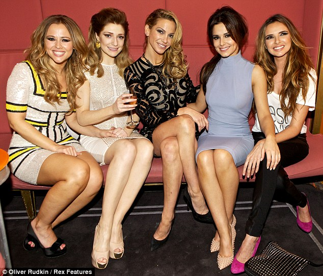 Close chums: On Saturday evening, Kimberley Walsh, Nicola Roberts, Sarah Harding, Cheryl Cole and Nadine Coyle enjoyed a night out at London's St Martins Lane Hotel