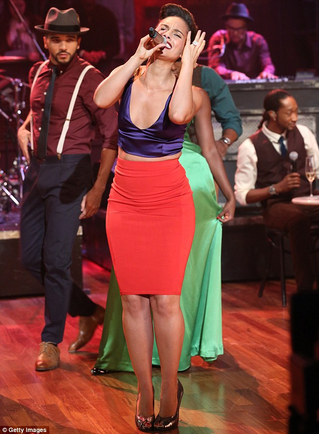 Music maestro: Alicia performed on the show and she was backed by her band and dancers