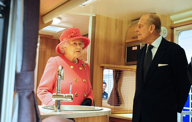 Royal approval: Prince Philip also took a look around the camper van and was understood to have given a suggestion on layout
