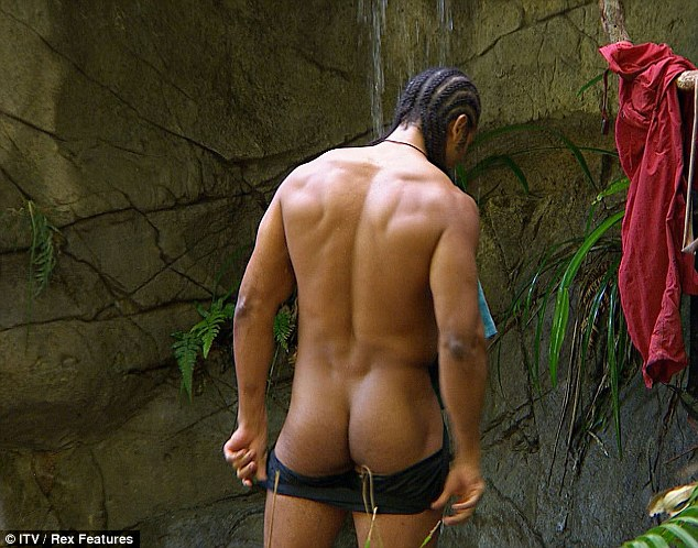 Cheeky: David Haye has become a hit on I'm A Celeb after flashing his bottom