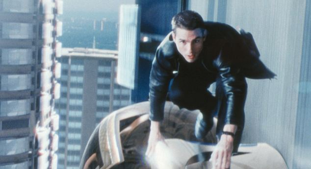 Tom Cruise in Minority Report: In the Hollywood film, Cruise's character must go on the run after authorities predict he is about to commit murder