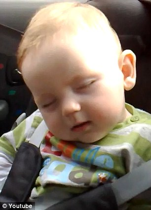 baby leo falling asleep 6