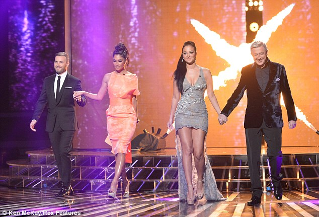 Stylish foursome: Both Tulisa and Nicole made sure to put their toned legs on display