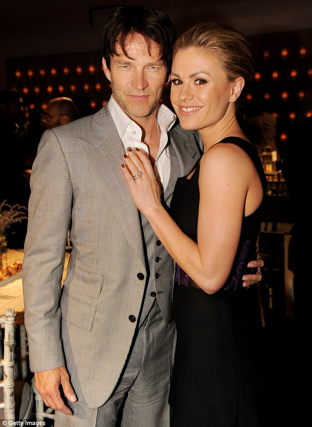 Chemistry: The couple met on the set of True Blood. Pictured the after party for the premiere of their HBO show at Social in June 2011 in Los Angeles