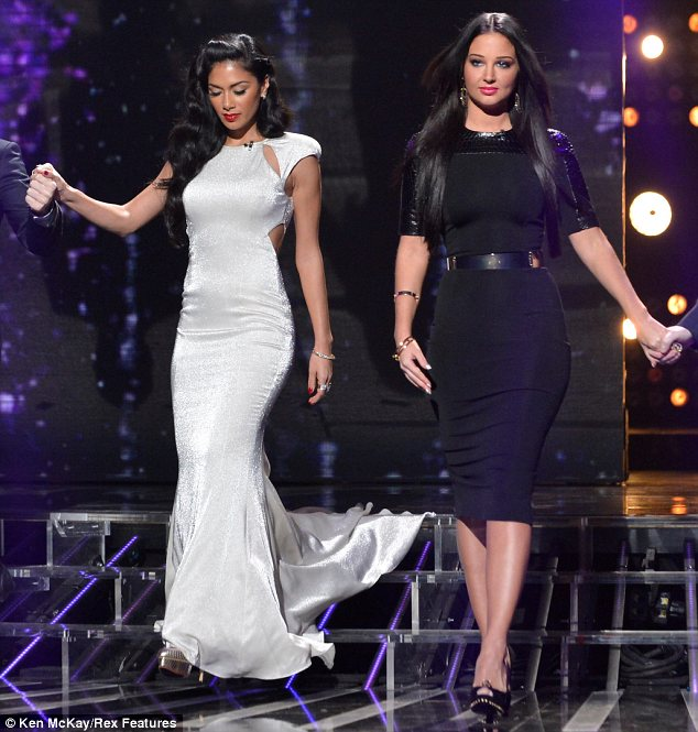 Simply stunning: Both women looked incredible in their respective outfits