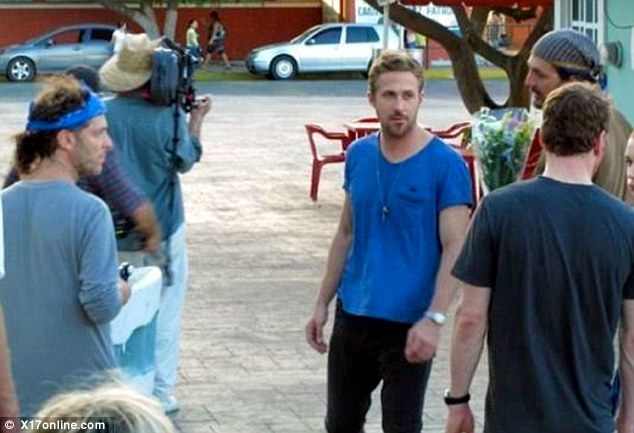 Busy at work: Ryan was spotted filming the new Terrence Malick film in Mexico earlier in the month