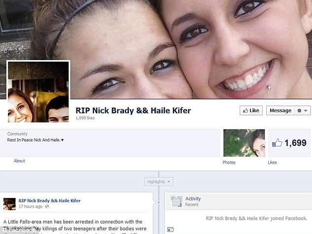Support: Friends on a memorial Facebook page have asked whether the appropriate force was used