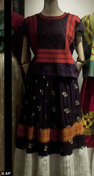 A colourful dress that belonged to Kahlo