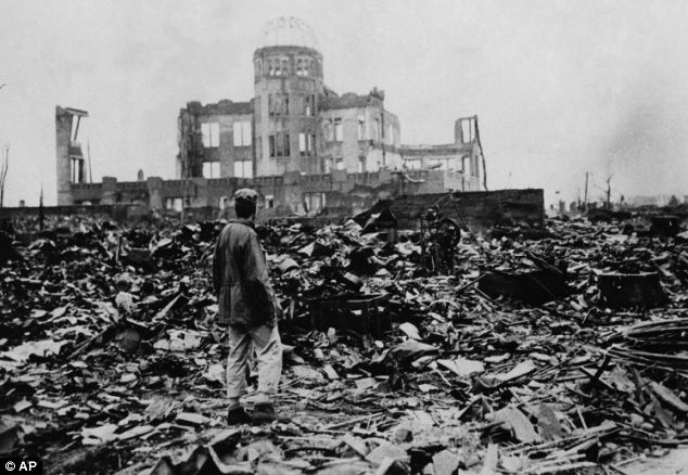 Devastation: Some 140,000 people died when the US dropped an atom bomb on Hiroshima in 1945