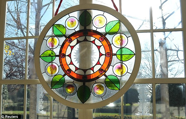 3a73261268b ... Splash of colour  Chicago artist David Lee Csicsko designed stained  glass windows decorating the grand