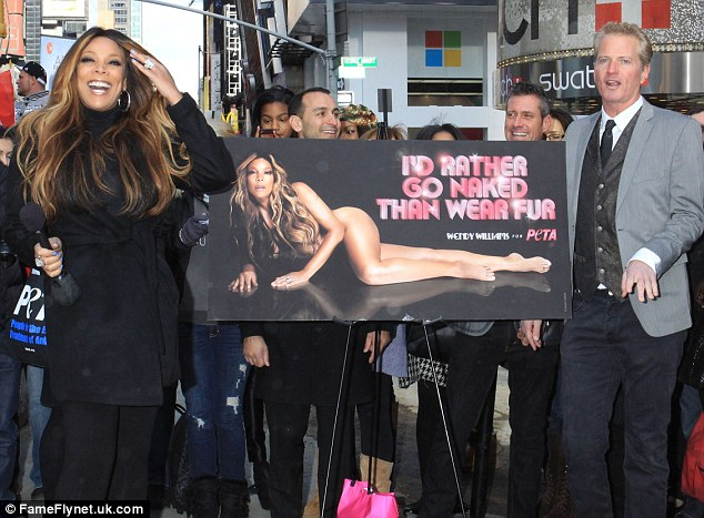 Unveiling: The popular day time talk show host unveiled her Winter campaign in Times Square on Wednesday
