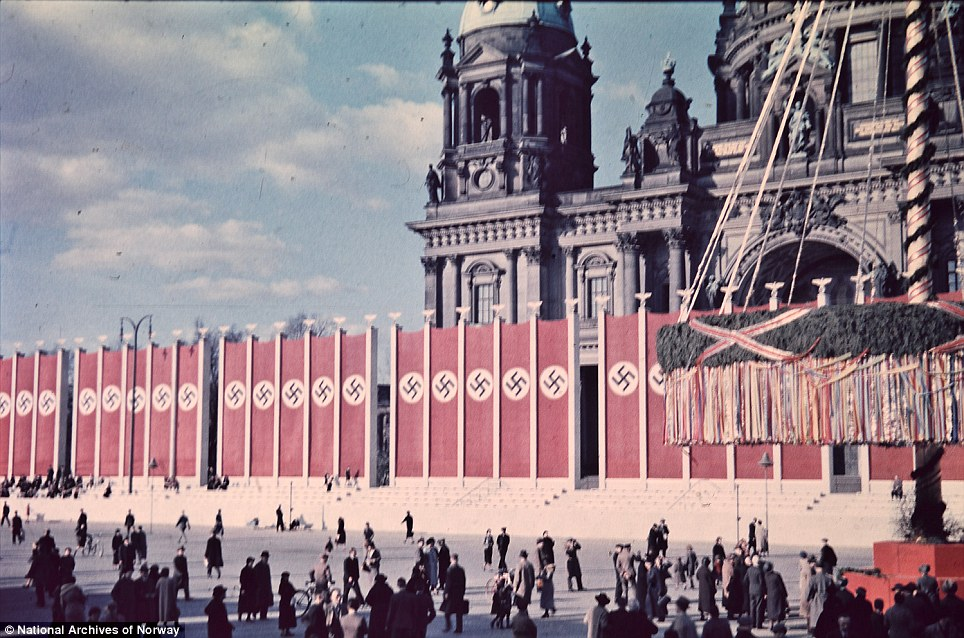 Church and state: Swastikas and a maypole outside Berlin Cathedral