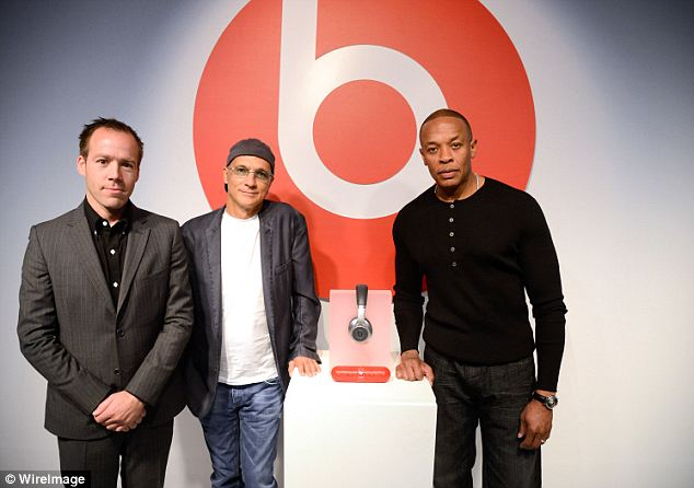 New addition: Luke Wood, Jimmy Iovine and Dr. Dre launch the wireless Beats by Dr. Dre Pill at the Beats Store in Soho, NY on October 16, 2012 in New York City