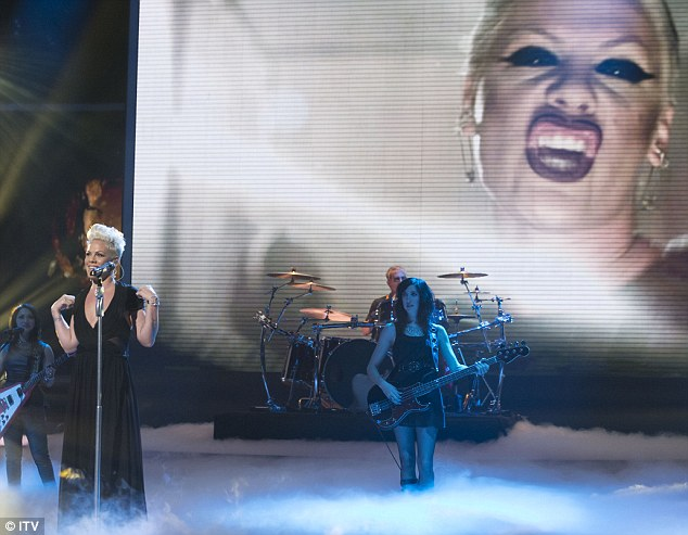 Sensational star: American singer P!nk took to the stage after Tulisa and was lauded with praise from the viewers
