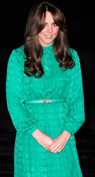 The Duchess of Cambridge pictured at a reception in London last week