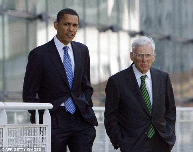 Payback: President Obama, seen here while he was just a candidate in 2008, rewarded Dan Rooney's support with the post of ambassador to Ireland