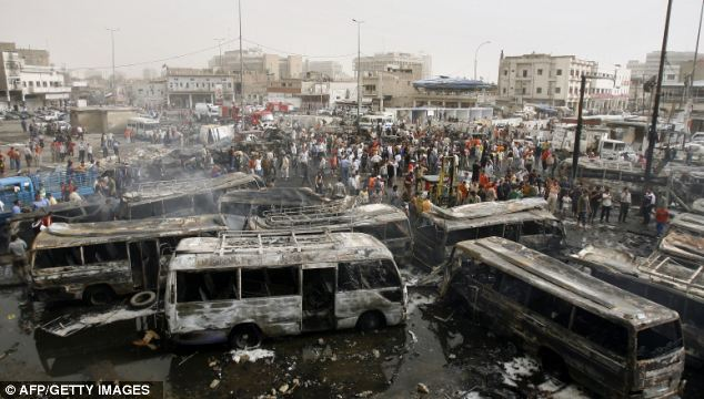 Costly: Of the 20 terrorist attacks that claimed the most lives in the past ten years, 11 happened in Iraq. More than 100 people died in this car bomb explosion in Baghdad in 2007