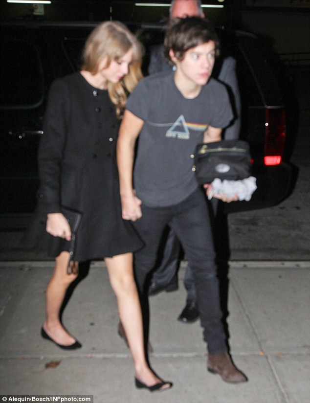 Taylor Swift Holds Hands With Harry Styles As They Arrive