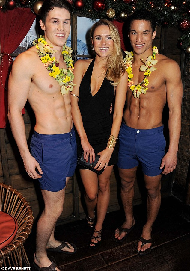 Where's there is a party... Kimberley Garner, former of Made In Chelsea hangs out with some new pals