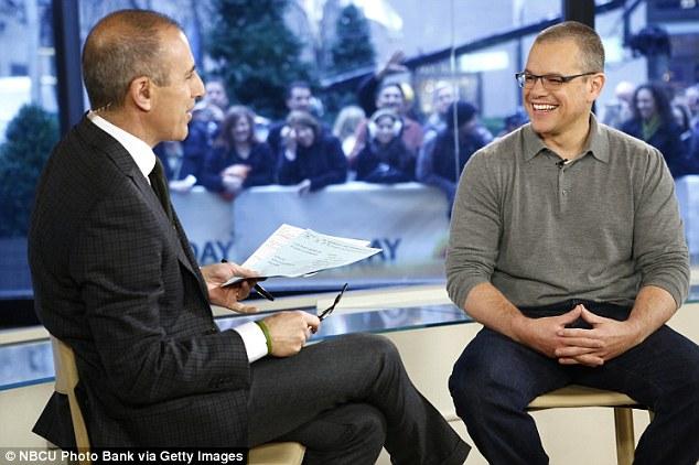Promotional blitz: Damon spoke to Matt Lauer on the Today show to plug his film
