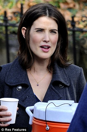 Coffee break: Cobie Smulders on the set of The Delivery Man in New York City