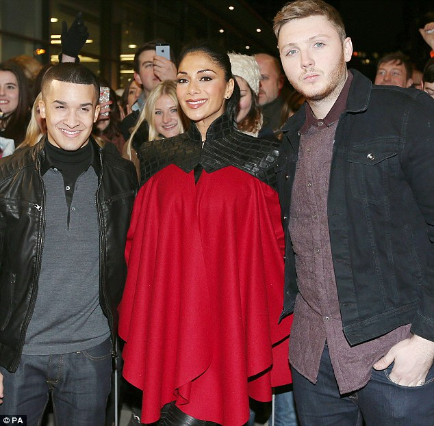 My boys: Nicole and Jahmene and Christopher Maloney, they opted for a duller look