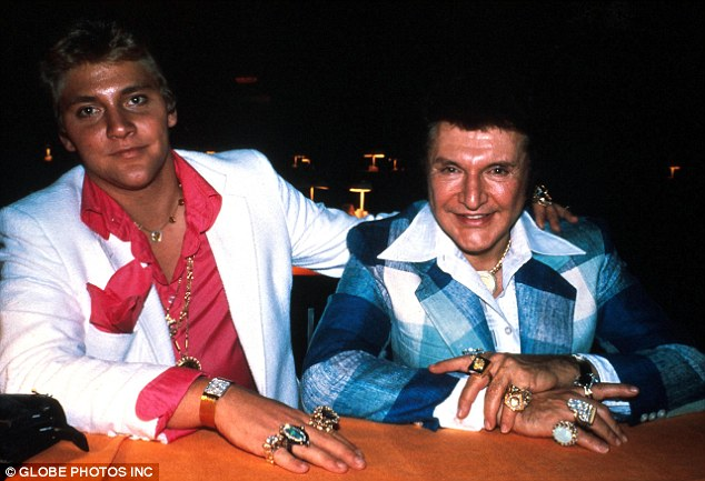 Kings of bling: Liberace and lover Scott Thorson, seen here in 1982 have been brought to life in a new biopic starring Michael Douglas and Matt Damon as you've never seen them before