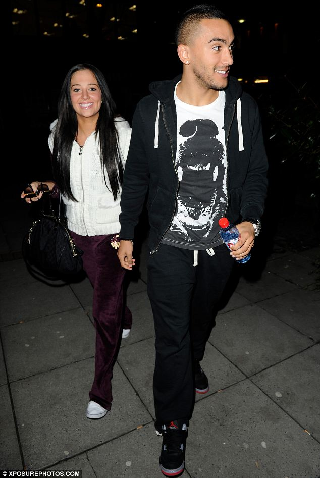 Happy: Tulisa and Danny looked really happy and comfortable in each others company as they geared up for a cosy night in