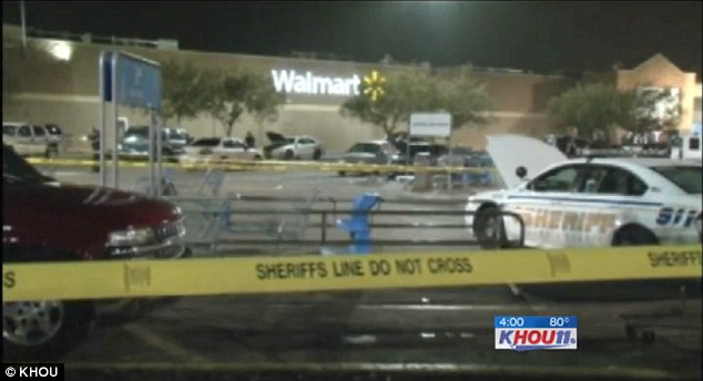 The Walmart store at 14000 block of the North Freeway in Houston where the alleged robbery occurred