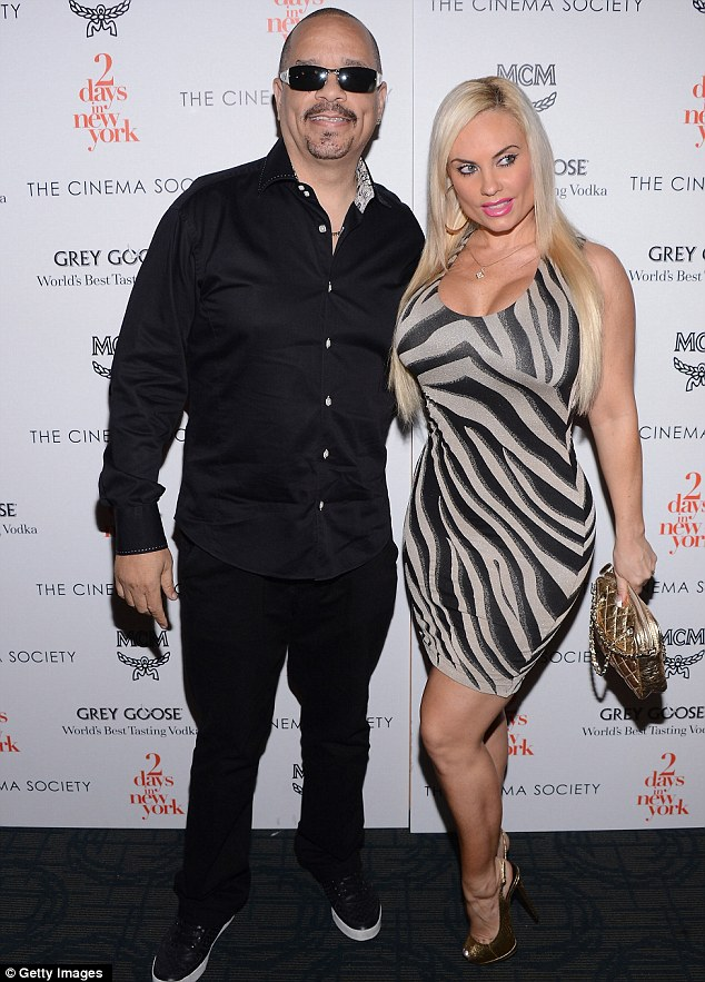 Rocked: The marriage between Ice-T and his wife Coco Austin has been rocked after pictures of the buxom blonde cosying up to another rapper called AP.9 have emerged