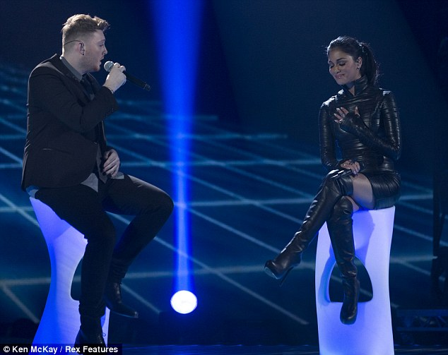 I love you, Nicole: James also declared his love for his mentor after he sang with her during the final