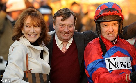Main men: Jockey Barry Geraghty (right) and trainer Nicky Henderson