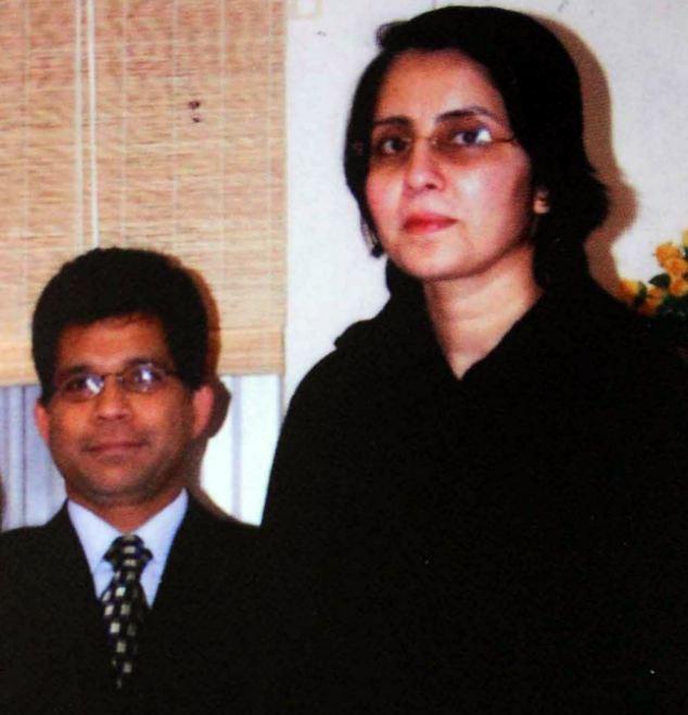 Missed: Jacintha Saldanha pictured with her husband Ben Barboza