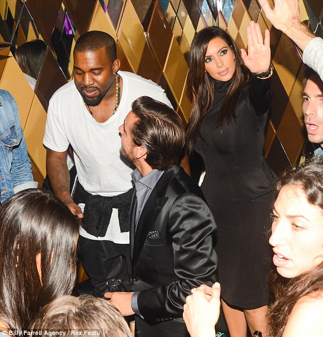 Welcome to Miami: Kim and Kanye were out with her sister Kourtney and Scott Disick