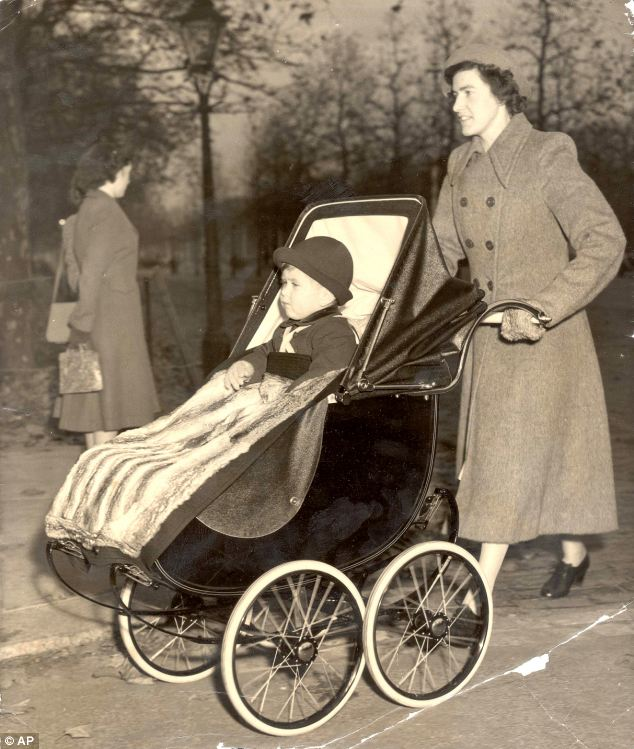 Charles on his second birthday in 1951 with nanny Mabel Anderson, who became a close friend to the Queen