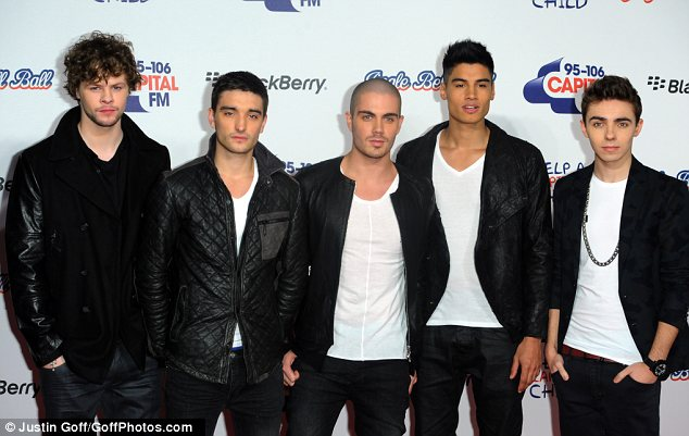 Back in the UK: Boyband The Wanted also performed at the Christmas concert