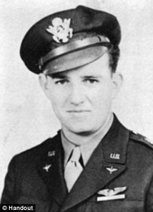 Saved: Charlie Brown was the lone pilot controlling an American bomber in 1943 when a German soldier decided not to shoot at the bloodied soldier