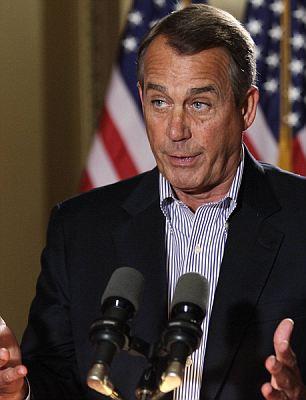 Deadlock: House Speaker John Boehner (left) and President Obama (right) are trying to agree on how address the deficit