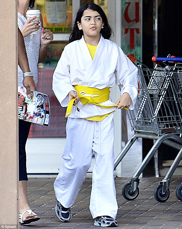 In uniform: Blanket was previously seen clutching his yellow belt while wearing his entire gi