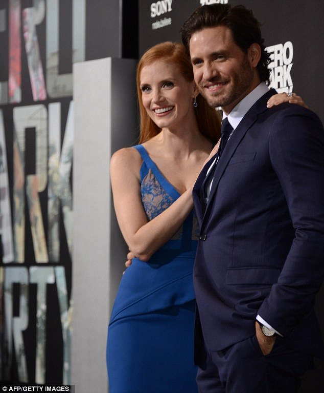 Undercover sexy: The Help actress poses with Venezuelan actor Edgar Ramirez, the pair play CIA agents on the hunt for Osama bin Laden