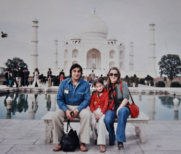 Tanith with her parents in India. She says as a child growing up in the Seventies, it was not uncommon to be called a 'half-caste'