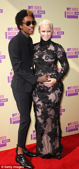 Playing it safe: The rapper and the model decided to not announce their second pregnancy until September at the VMAs